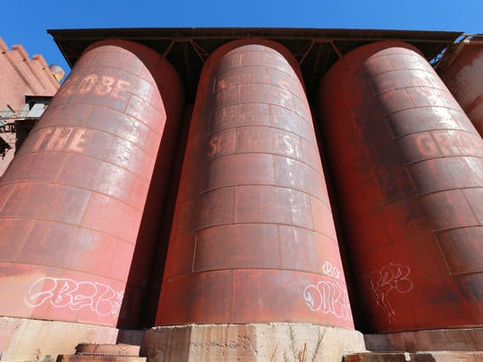 These are silos at the old Globe Mills.