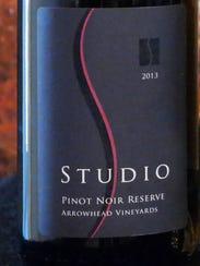 Studio Winery's Pinot Noir Reserve captured a bronze