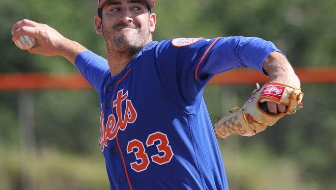 Mets workout this afternoon. Matt Harvey pitched live this morning.