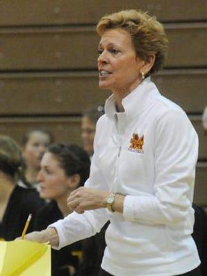 Mercy's Loretta Vogel begins her 40th year of coaching girls volleyball.