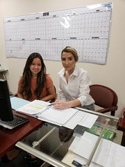 The first group of volunteers have signed on to the Diabetes Foundation's (DF) new Diabetes Resource Coach Program. These volunteer coaches will play an important role in directing diabetes patients to a range of important community resources. Pictured are Sindy Chuy (left) and Tiffany Hernandez.
