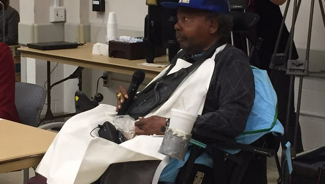 Veteran Michael Young, who lives at the Grand Rapids Home for Veterans, said he's been asking for prosthetic legs for three years but is still waiting.