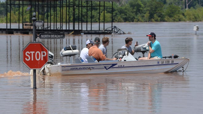 More images from the flooding at the River Bluff subdivision in Bossier City.