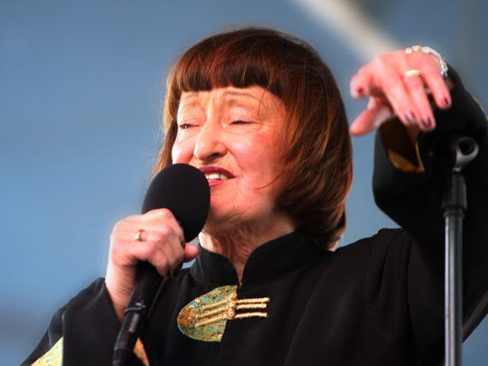 Jazz singer Sheila Jordan performs with the Tad Weed Trio on the Absopure Waterfront Stage at the Detroit International Jazz Festival Monday, September 7, 2009.