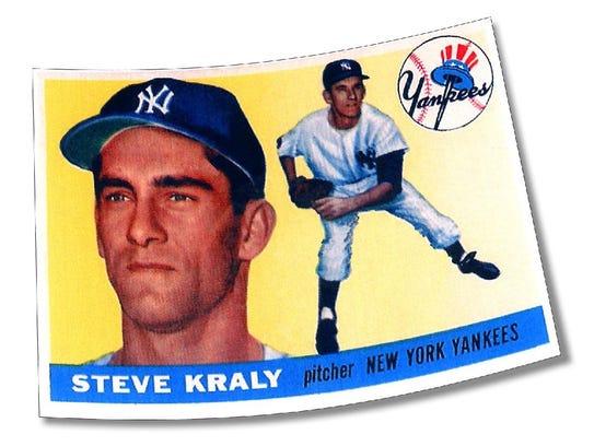 Baseball card for Steve Kraly.