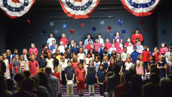 Students at American Heritage Academy's campus in Cottonwood, Ariz., put on a show for parents and teachers at a recent school event.
