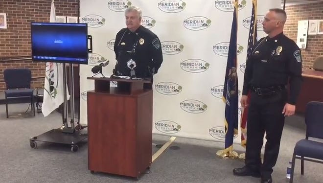 Meridian Township Police Chief David Hall explains his role in the investigation of open sexual assault cases, May 2, 2018. Status of nearly 600 cases released.
