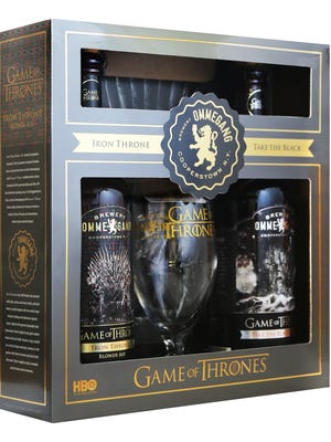 This fall, HBO and Brewery Ommegang will bring back Iron Throne Blonde Ale and Take the Black Stout, available on draft, in single 750ml bottles and in a first-ever collectible gift pack featuring a bottle of each and a commemorative Game of Thrones glass.