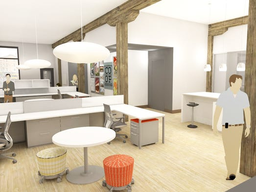 Rendering of Co-op Architecture's office.