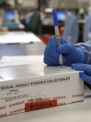 Evidence is collected from victims of sexual assault,
