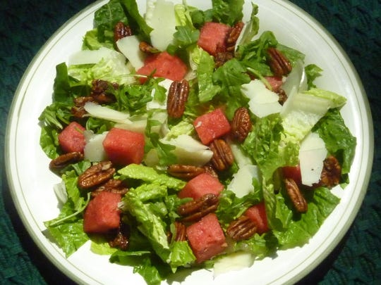 Watermelon salad perfect for Memorial Day weekend, picnics