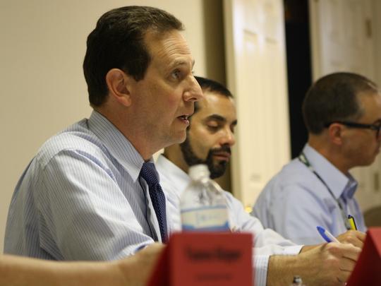 Dan Bennett, president of the Brevard Federation of Teachers, during negotiations for teacher raises with Brevard Public Schools staff.