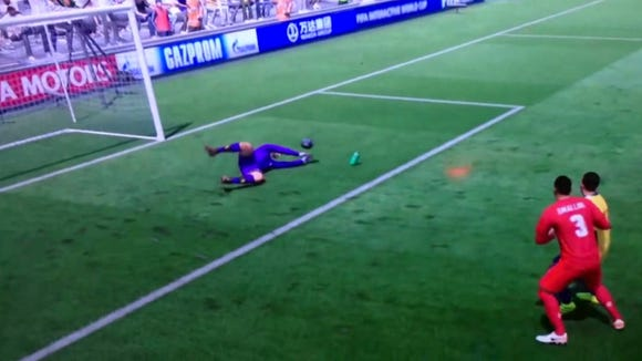 A step-by-step guide to the luckiest FIFA 17 goal you'll ever see