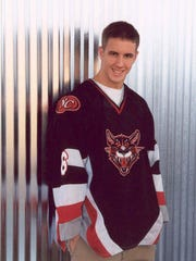 David Scott, shown when he played ice hockey for North Central High School in Indianapolis.