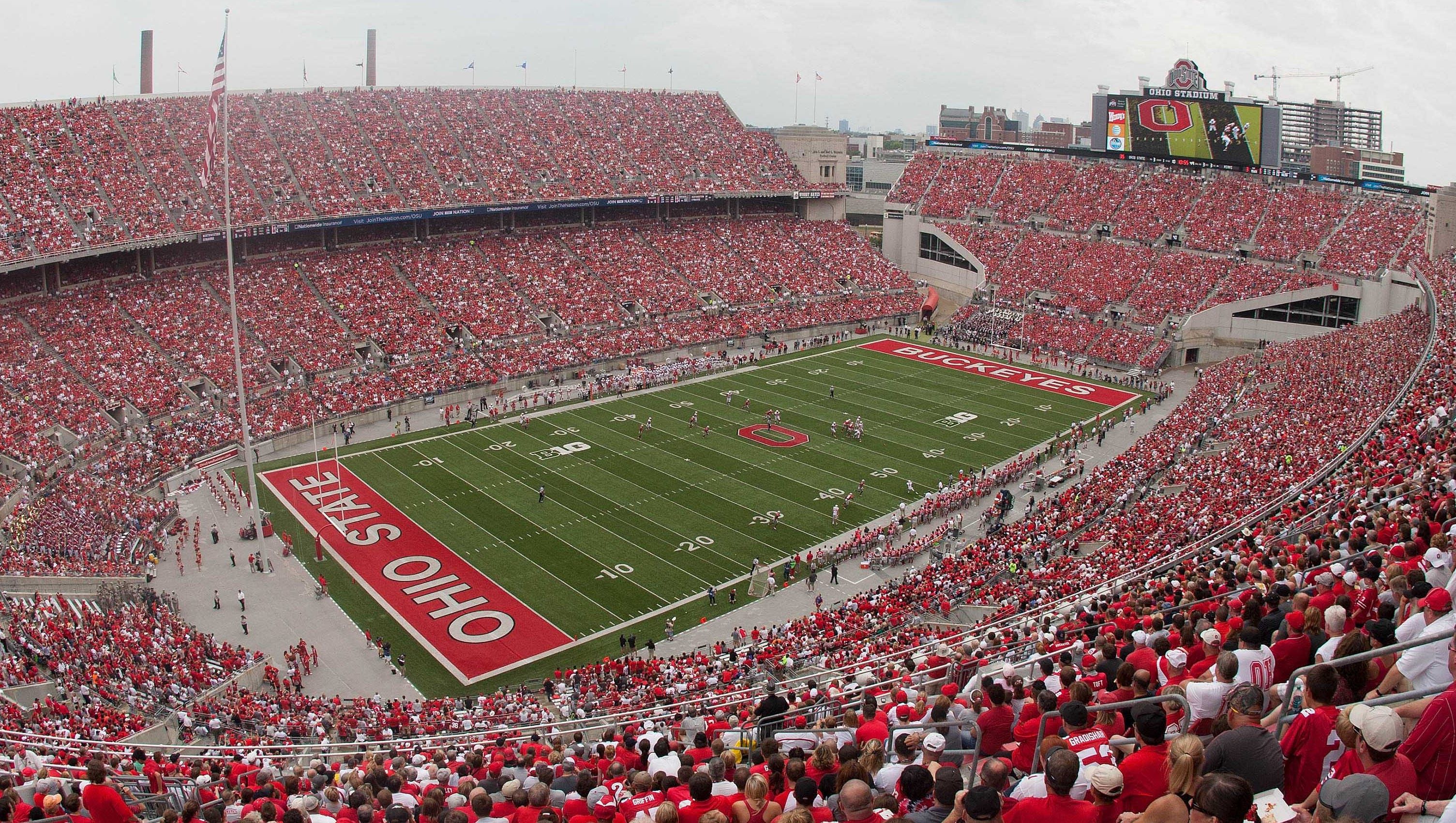 Ohio Stadium, Ohio State: Built more than 90 years ago alongside the Olentangy River, Ohio Stadium is most known for its horseshoe configuration that also includes a scenic rotunda at the north end.