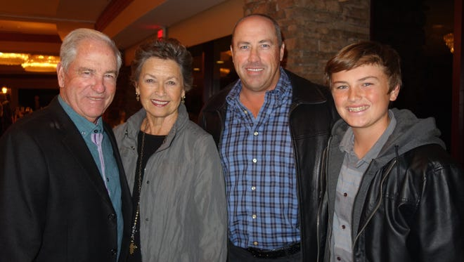 10 time PGA golf champion, board member and sponsor Dave Stockton, wife Cathy, son Dave Stockton Jr., grandson Jake Stockton