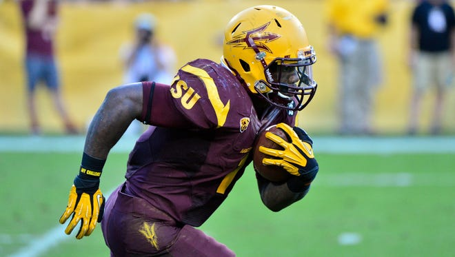 Arizona State running back Marion Grice has scored 18 touchdowns this season.