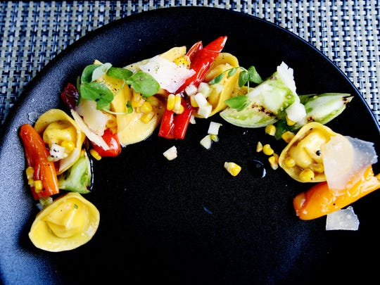 The Bistro's corn tortellini with