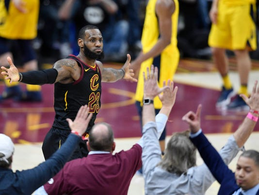 NBA  Playoffs-Indiana Pacers at Cleveland Cavaliers. Cleveland Cavaliers  forward LeBron James ... 5d6dda9e0