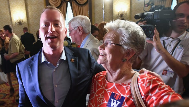 South Carolina GOP gubernatorial candidate John Warren at his primary watch party at the Westin Poinsett in downtown Greenville Tuesday, June 26, 2018.