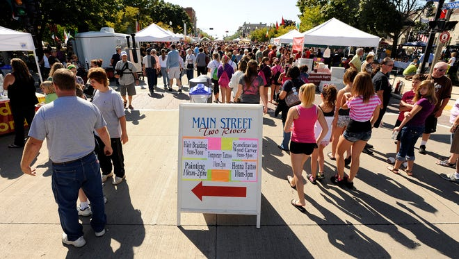 Thousands are expected to pack Washington Street in downtown Two Rivers for the annual Ethnic Fest celebration. Among the attractions are cultural music acts, foods, demonstrations and crafts.