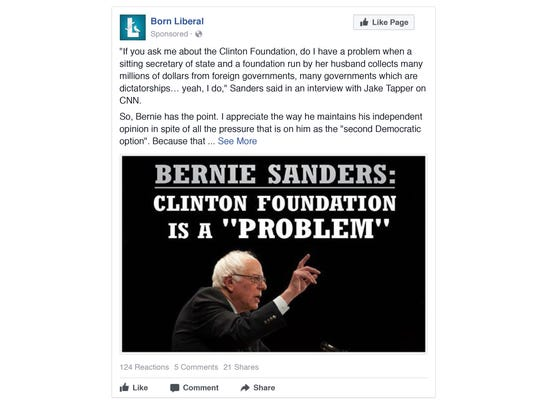 This is one of the many Russian Facebook ads intended to stir dissension in the U.S.