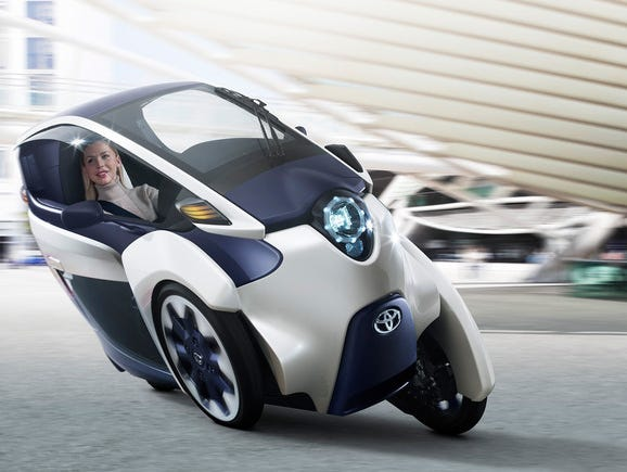 Toyota's iRoad concept car.