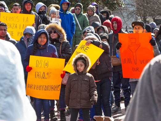Thousands flock to Immigration Rally at Town Square