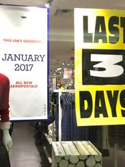 Aeropostale will remain open through Dec. 31, then