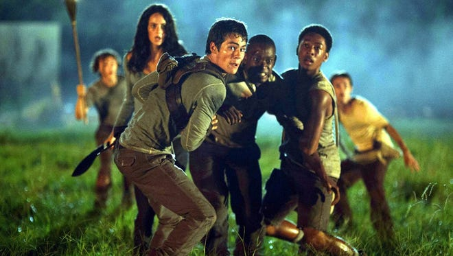 """Dylan O'Brien leads a young cast in """"The Maze Runner,"""" which opens Sept. 19 in theaters."""