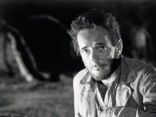 Humphrey Bogart gets ruffled in a scene from 'The Treasure of the Sierra Madre.'