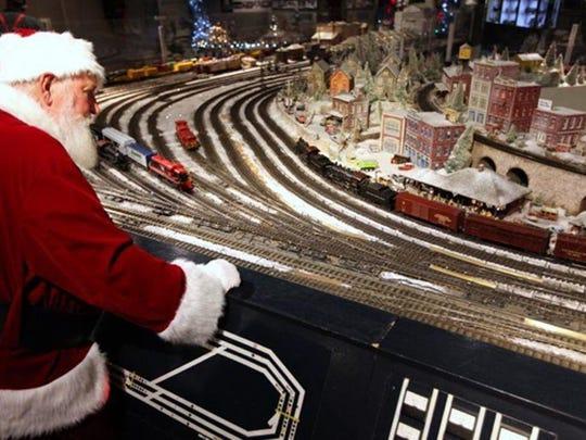 Santa Claus loves trains, too.
