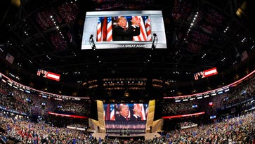 Trump's show in Cleveland on July 21, 2016.