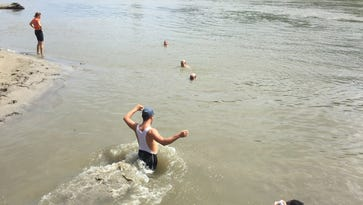 """Jump in! """"The real"""" tire dip site is 8mi SE of Glenwood at Plattsmouth. Long line beneath the bridge."""