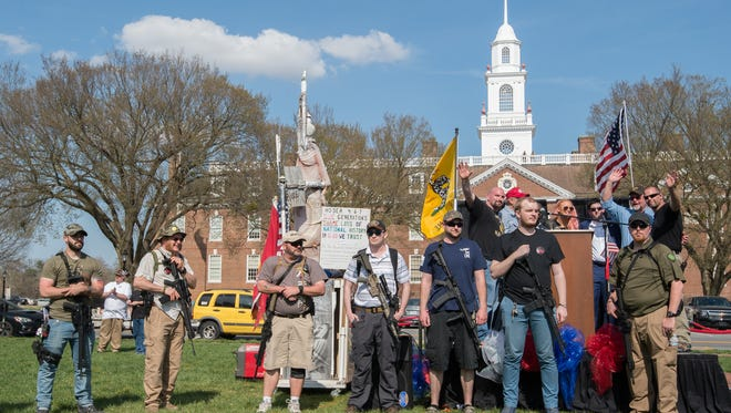 The Delaware Citizens for the 2nd Amendment and the Delaware 3% United Patriots held a pro-Second Amendment rally outside Legislative Hall in Dover.