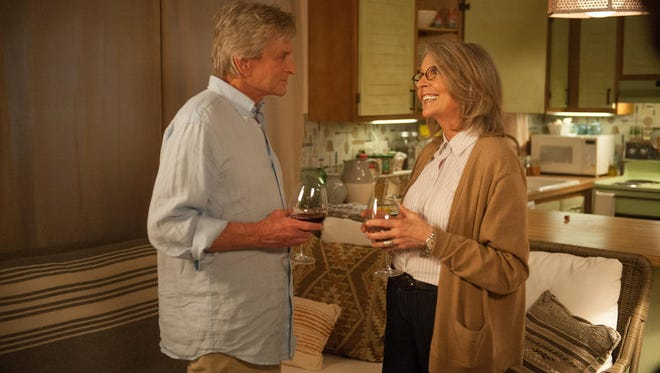 """Michael Douglas and Diane Keaton in a scene from """"And So It Goes..."""""""