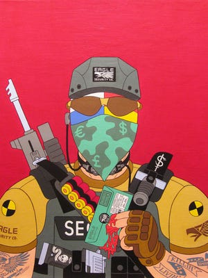 """""""Soldier of Misfortune,"""" an acrylic painting on canvas by Aleksandar Todorovic, is part of an exhibit at Tim Faulkner Gallery."""
