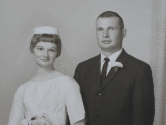 Larry Herbst and Connie Calhoon married in June 1964.