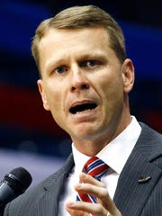 Republican candidate for attorney general Mike Hurst,