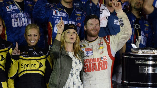 Amy and Dale Earnhardt, seen here in a file photo, were married on New Year's Eve.