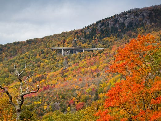 Autumn is one of the most popular times to visit the Blue Ridge Parkway for some of the region's best fall leaf peeping.