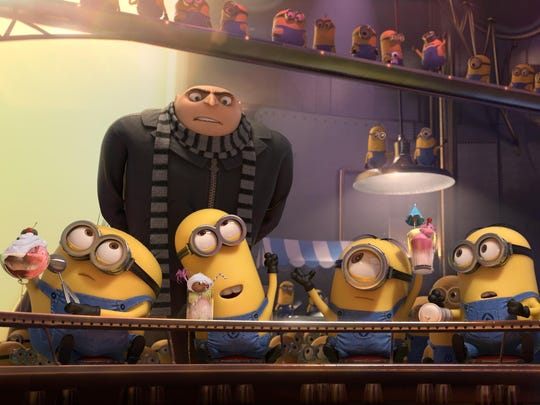 "Gru (Steve Carell) tries to wrangle his Minions in the film ""Despicable Me 2."" The movie will be screened under the stars at Kensico Dam Plaza in Valhalla on Aug. 7"