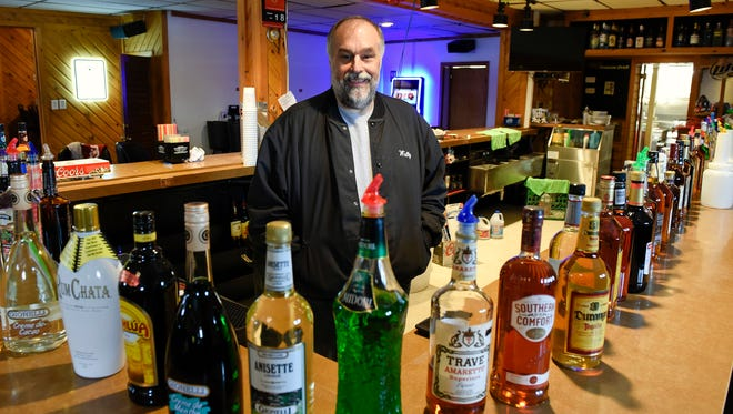 Kevin Olson, the new owner of the Hayloft Bar & Grill, gets ready to open Friday, March 4, in Luxemburg. The bar and restaurant has been closed for four years.