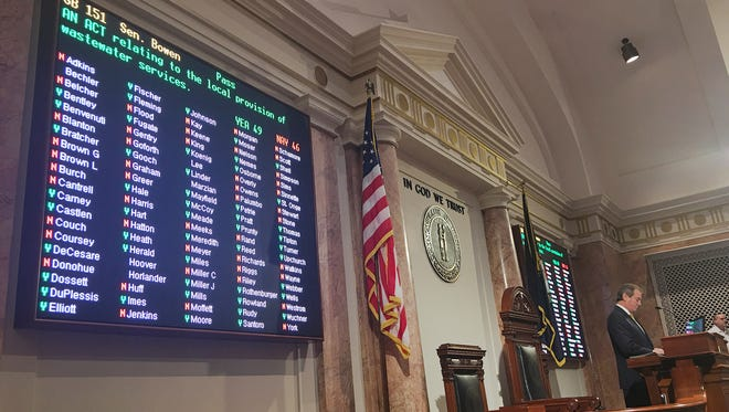Vote in House chambers on Senate Bill 151, which contained a new version of the pension reform bill.