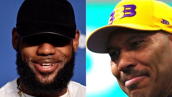 LeBron James and LaVar Ball
