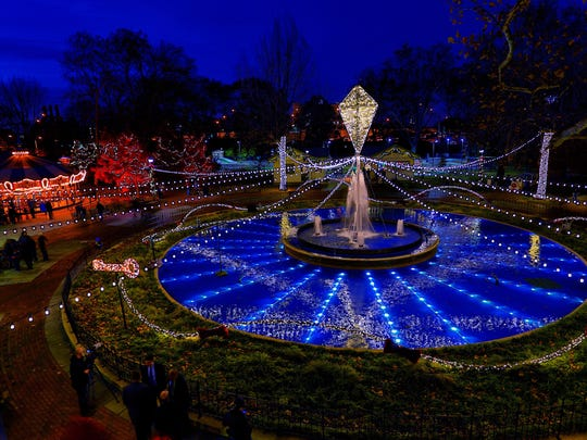 The Electrical Spectacle Holiday Light Show is now on display at Franklin Square in Philadelphia.
