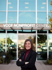 Ventura County Community Foundation CEO Vanessa Bechtel stands for a portrait at the organization's building in Camarillo a few days ago.