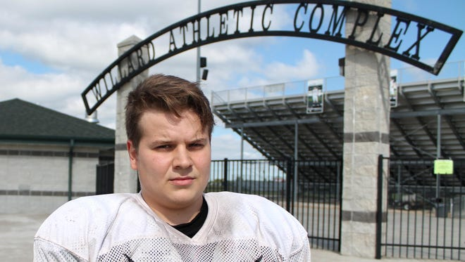 Willard offensive tackle Martin Eidson is the lone holdover starter from the Tigers' 2014 offensive line.