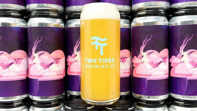 One of Alexandria's designs adorns a Two Tides Brewery's cans.