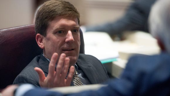 Rep. Bill Poole on the house floor in the Alabama Statehouse